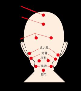 抜け毛を防ぐ頭のツボを刺激する