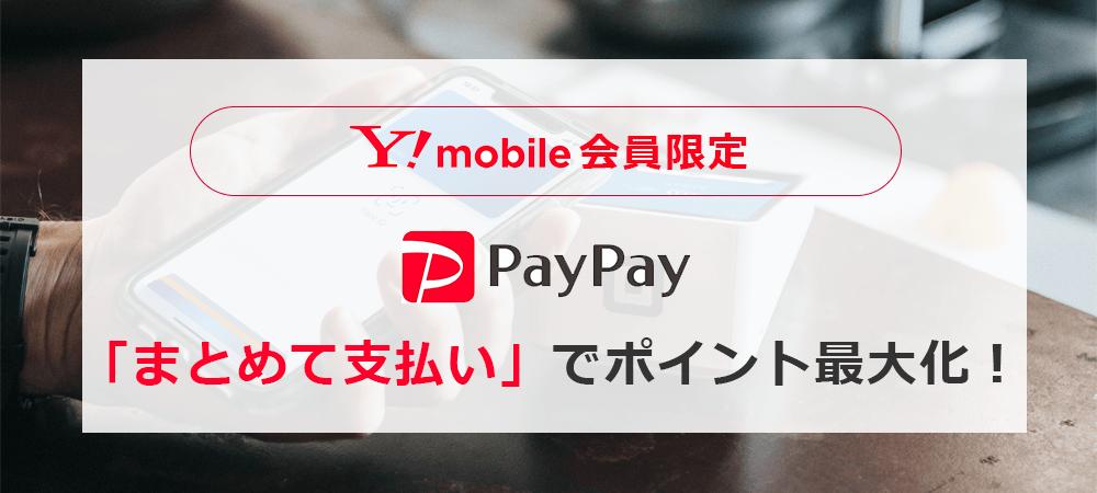 ワイモバイル会員ならPayPayの支払い方法は「まとめて支払い」で0.5%+クレカ支払い分ゲット!